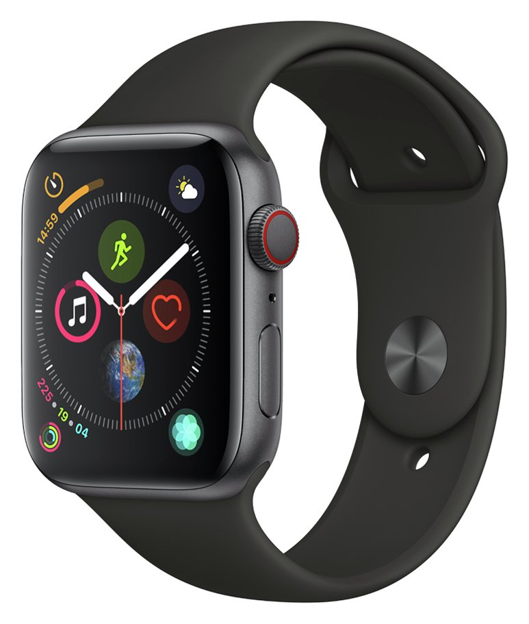 Apple Watch S4 Cellular 44mm - Space Grey Alu / Black Band
