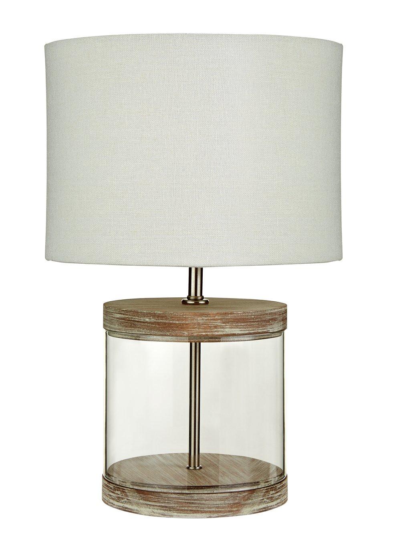 Argos Home Coastal Wood & Glass Table Lamp