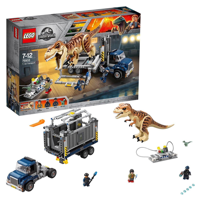 LEGO Jurassic World T. rex Dinosaur Toy Transport - 75933