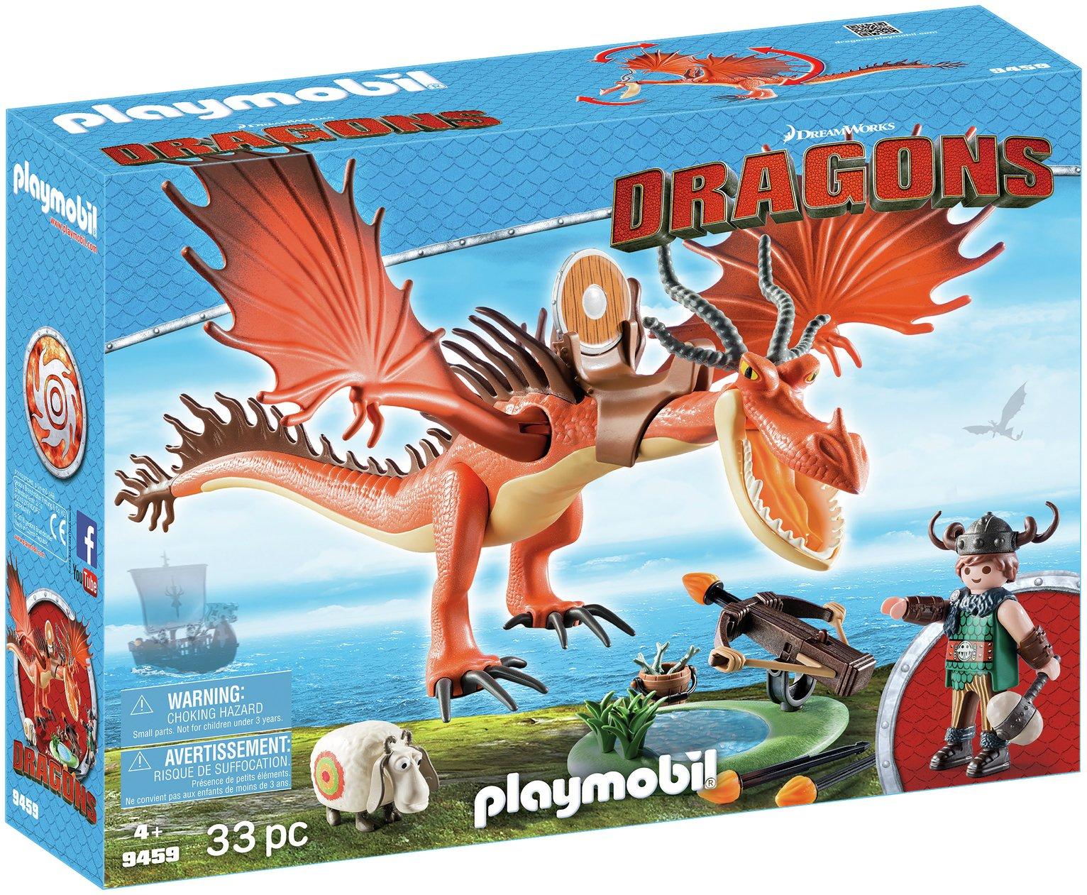 Playmobil 9459 Dragons Snotlout And Hookfang