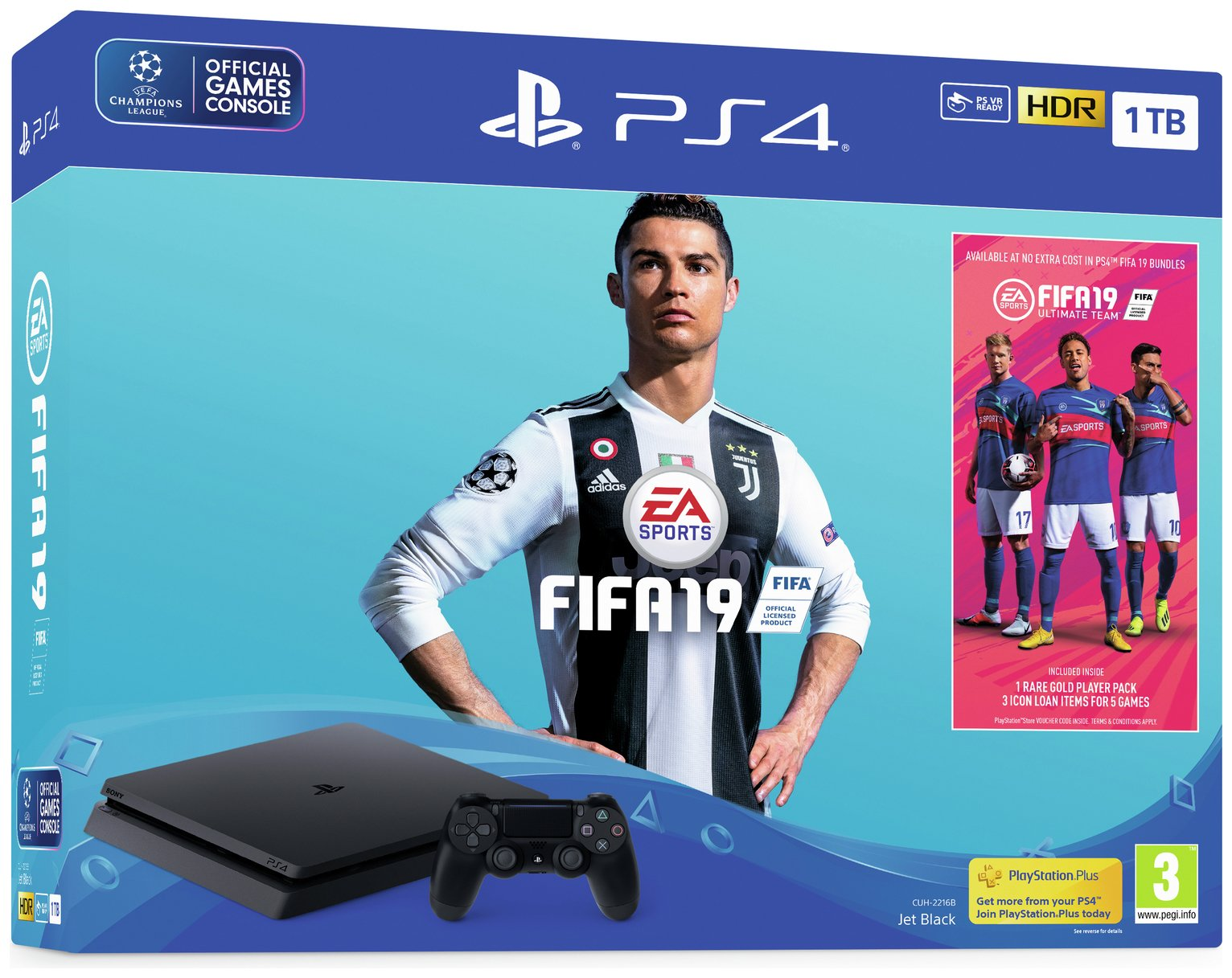 Sony PS4 1TB Console and FIFA 19 Bundle