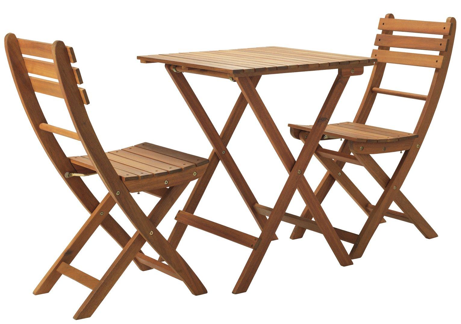 Argos Home Toledo 2 Seater Wooden Bistro Set
