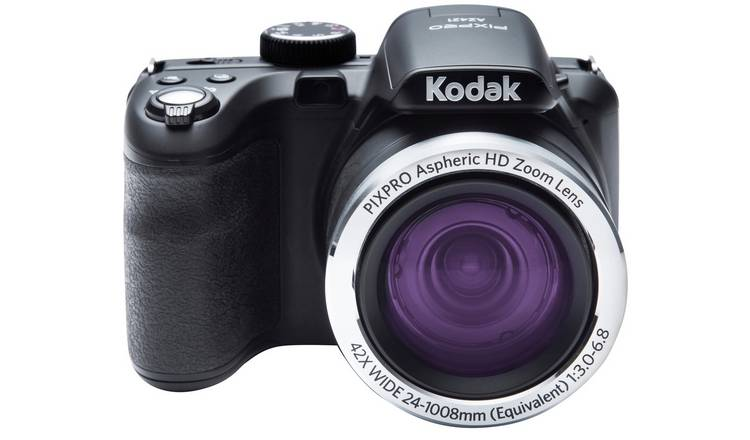 Buy Kodak PixPro AZ421 16MP 42x Zoom Bridge Camera - Black | Bridge digital  cameras | Argos