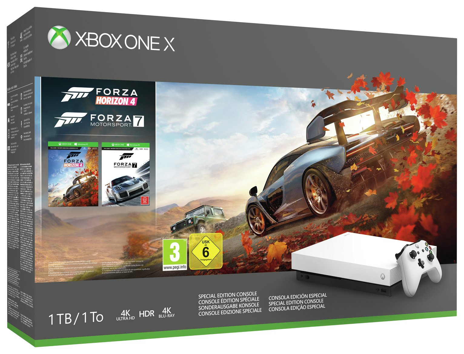 Xbox One X White 1TB Console & Forza Special Edition Bundle