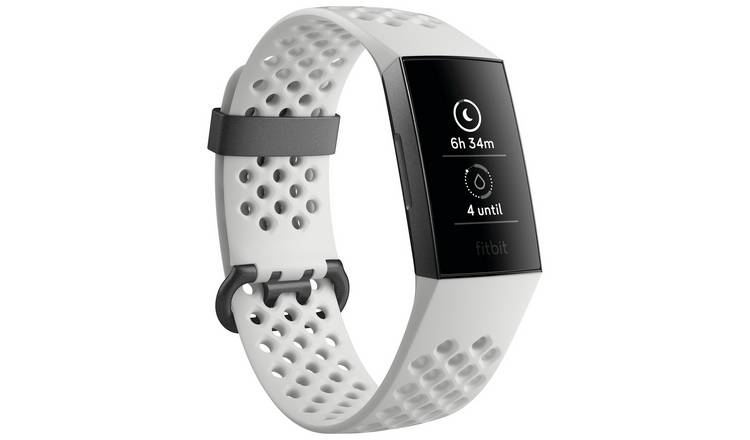 Buy Fitbit Charge 3 Special Edition Smart Watch - Graphite White | Fitness  and activity trackers | Argos