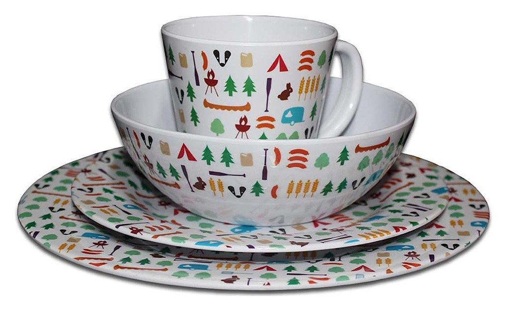Olpro Berrow Hill 16 Piece Melamine Dining Set review