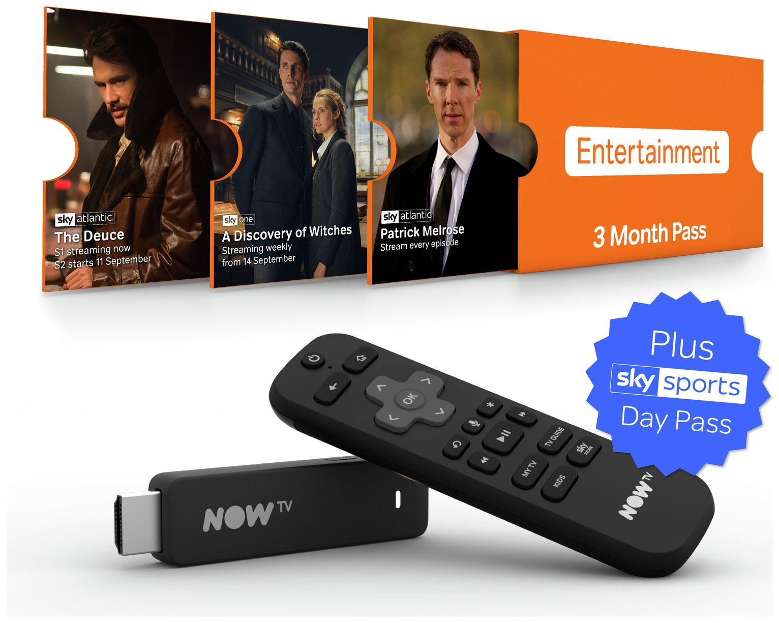 NOW TV Stick With 3 month Entertainment + 1 Day Sports Pass review