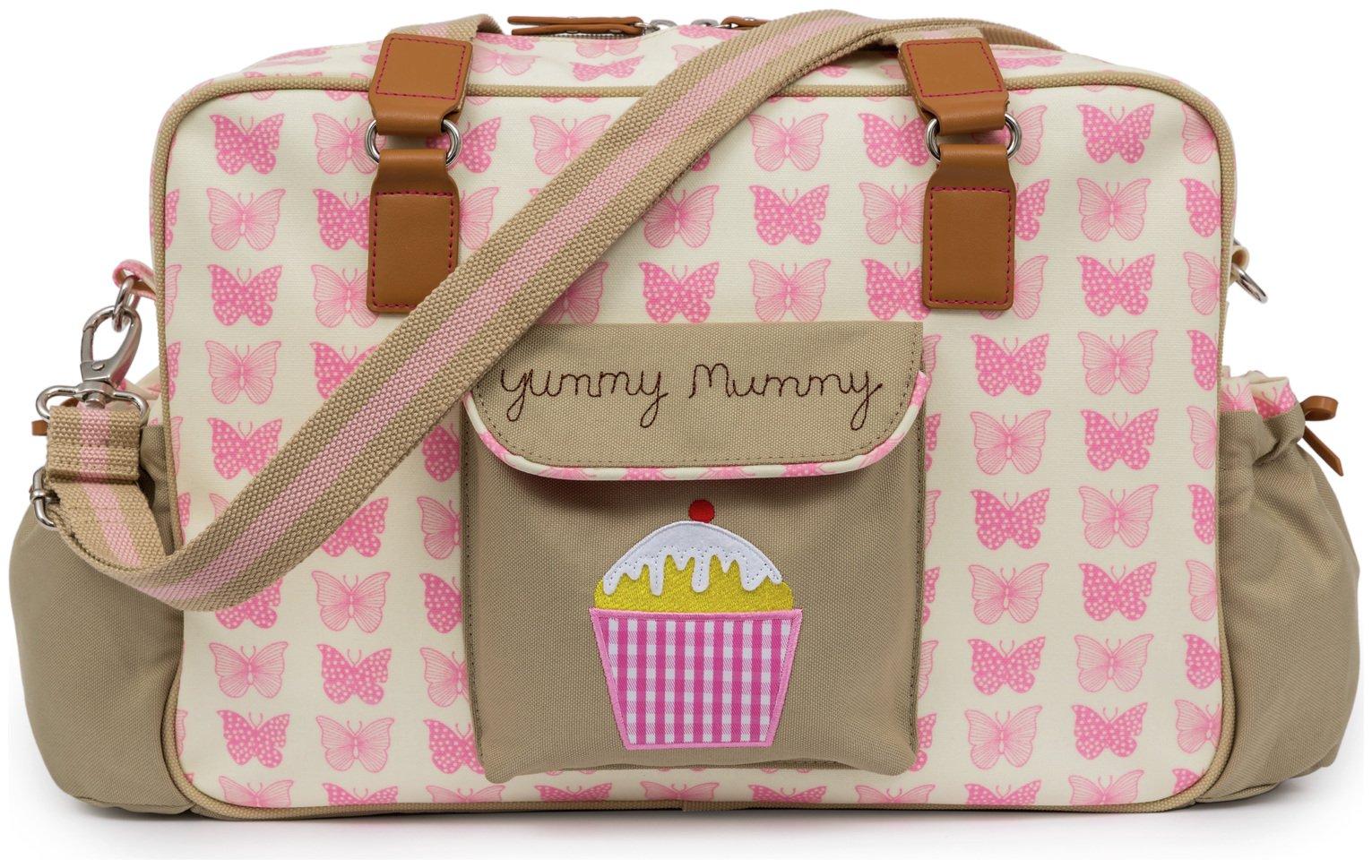 Pink Lining Yummy Mummy Bag - Pink Butterflies