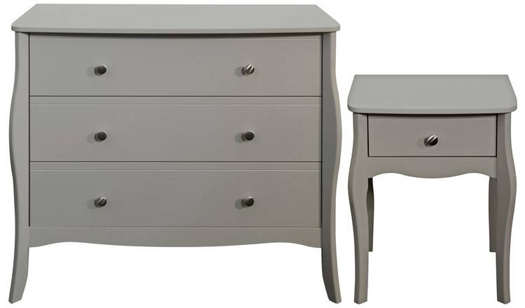 Buy Argos Home Amelie Bedside 3 Drawer Chest Grey Bedroom