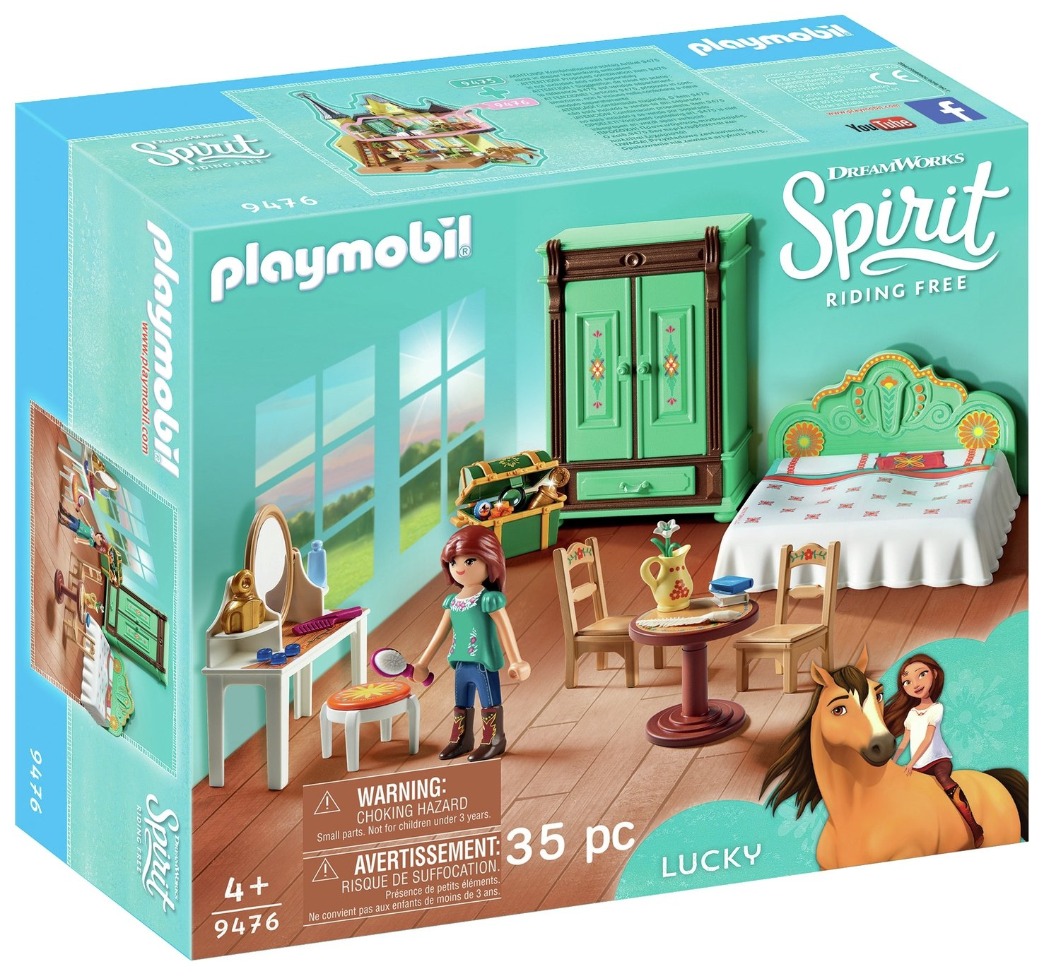 DreamWorks Spirit 9476 Lucky's Bedroom By Playmobil