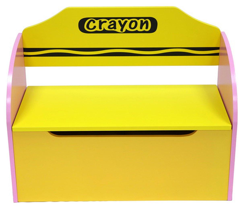 Kiddi Style Pink Crayon Toy Box & Bench
