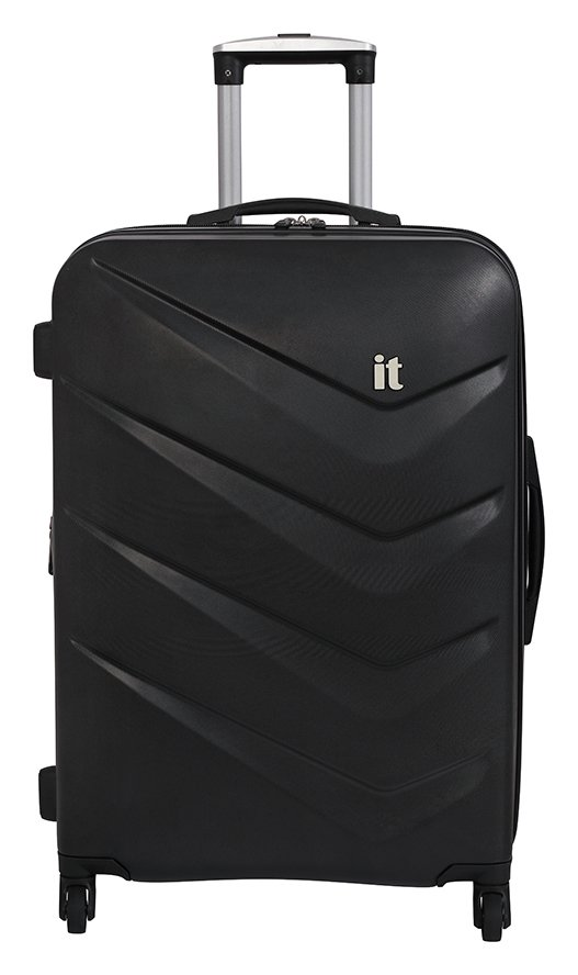 it Luggage Medium Expandable 4 Wheel Hard Suitcase - Black