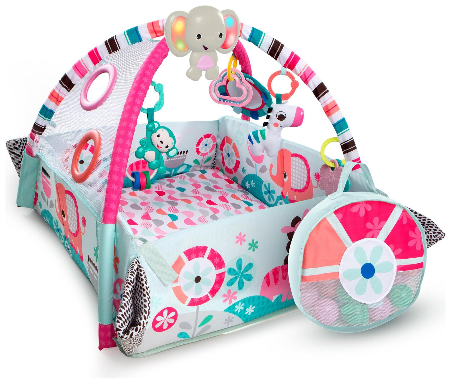 Bright Starts 5 in 1 Ball Play Gym - Pink