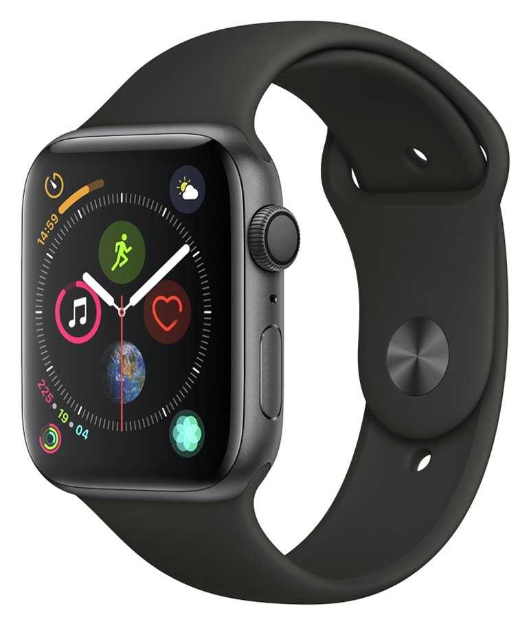 Apple Watch S4 GPS 44mm - Space Grey Aluminum / Black Band