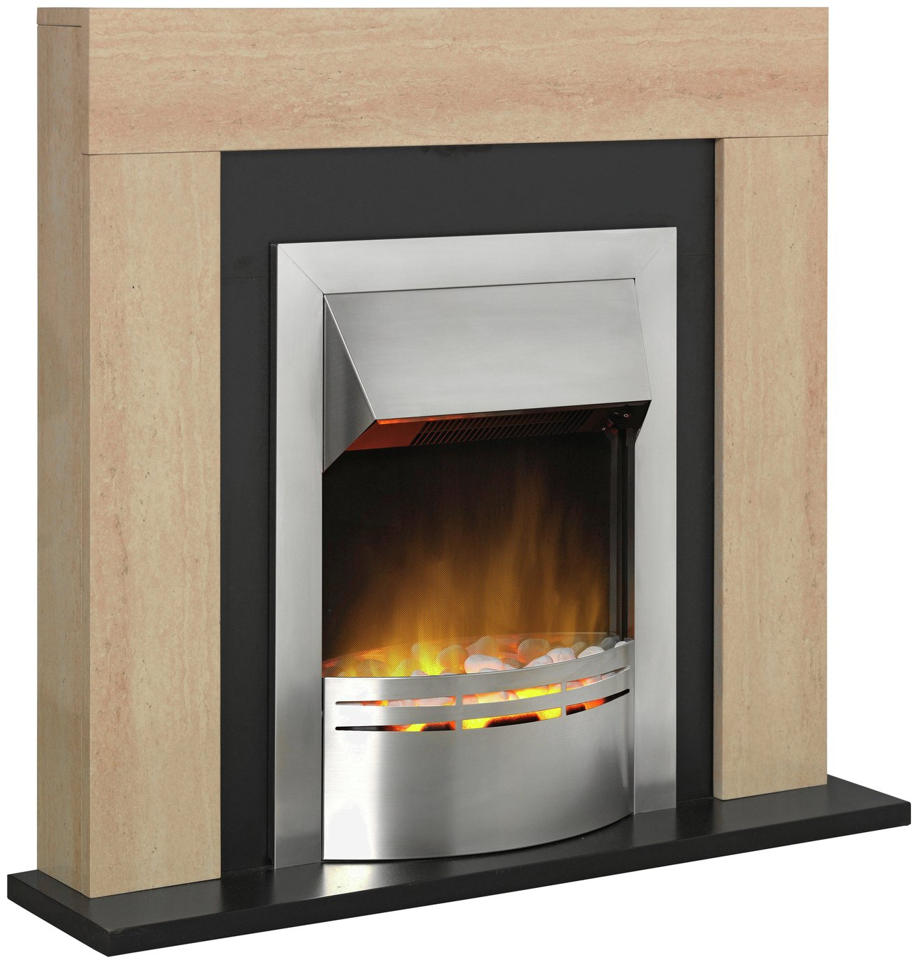 Dimplex Marbello 2kW Electric Fire Suite - Marble Effect