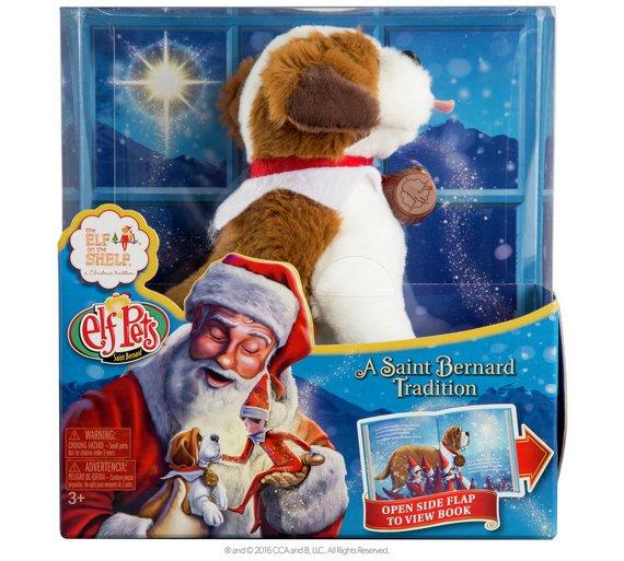 the elf on the shelf pets st bernard tradition