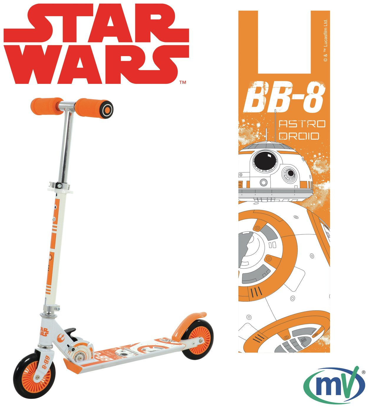 Star Wars BB8 Folding Inline Scooter