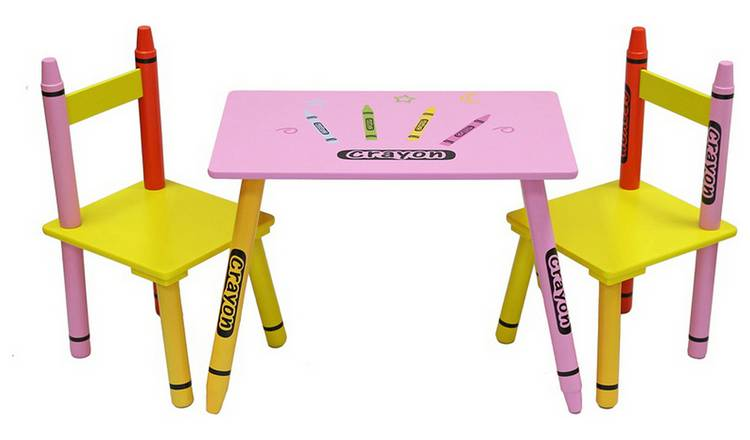 Brilliant Buy Kiddi Style Pink Crayon Table Chair Set Kids Tables And Chairs Argos Ocoug Best Dining Table And Chair Ideas Images Ocougorg