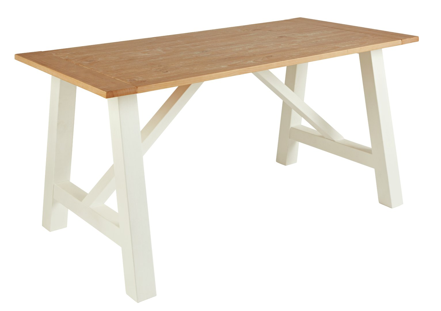 Argos Home Farmhouse Table - Two Tone