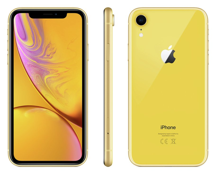 Sim Free iPhone XR 128GB Mobile Phone - Yellow