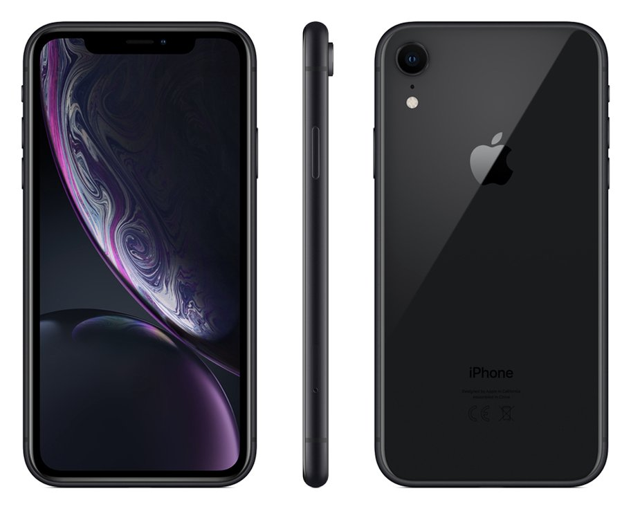 Sim Free iPhone XR 256GB Mobile Phone - Black
