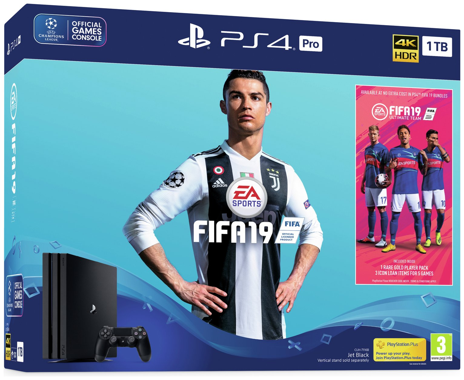 Sony PS4 Pro 1TB Console and FIFA 19 Bundle