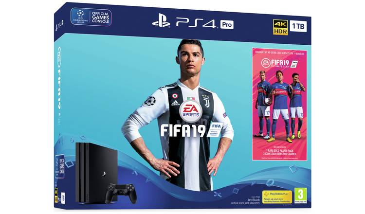 Buy Sony PS4 Pro 1TB Console and FIFA 19 Bundle | PS4 consoles | Argos