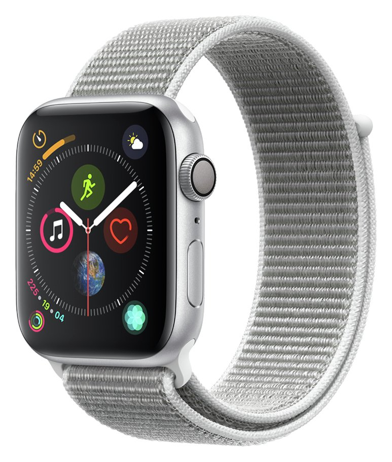 Apple Watch S4 GPS 44mm - Silver Aluminum / Seashell Band