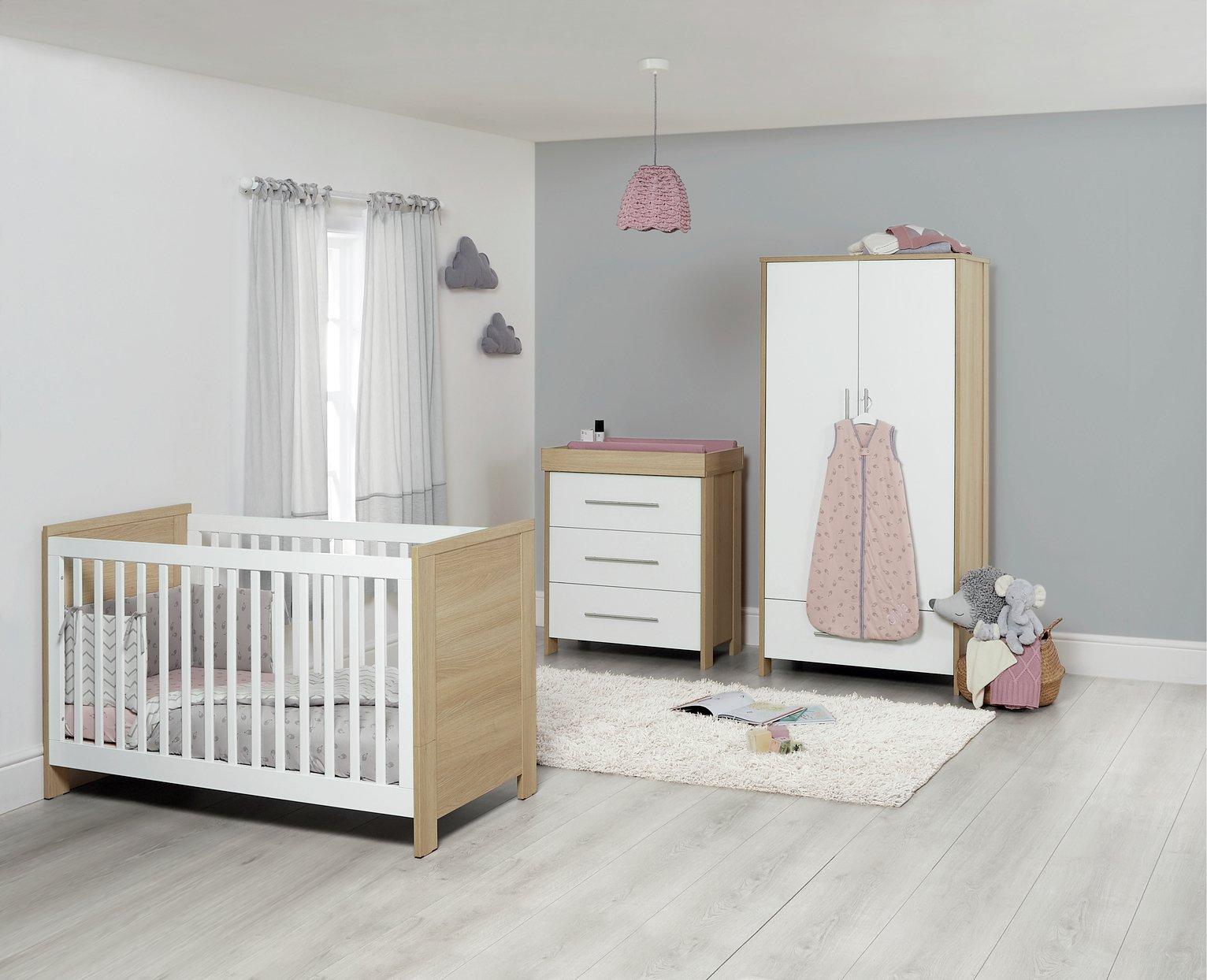 mamas papas harrow 3 piece furniture set grey. Black Bedroom Furniture Sets. Home Design Ideas