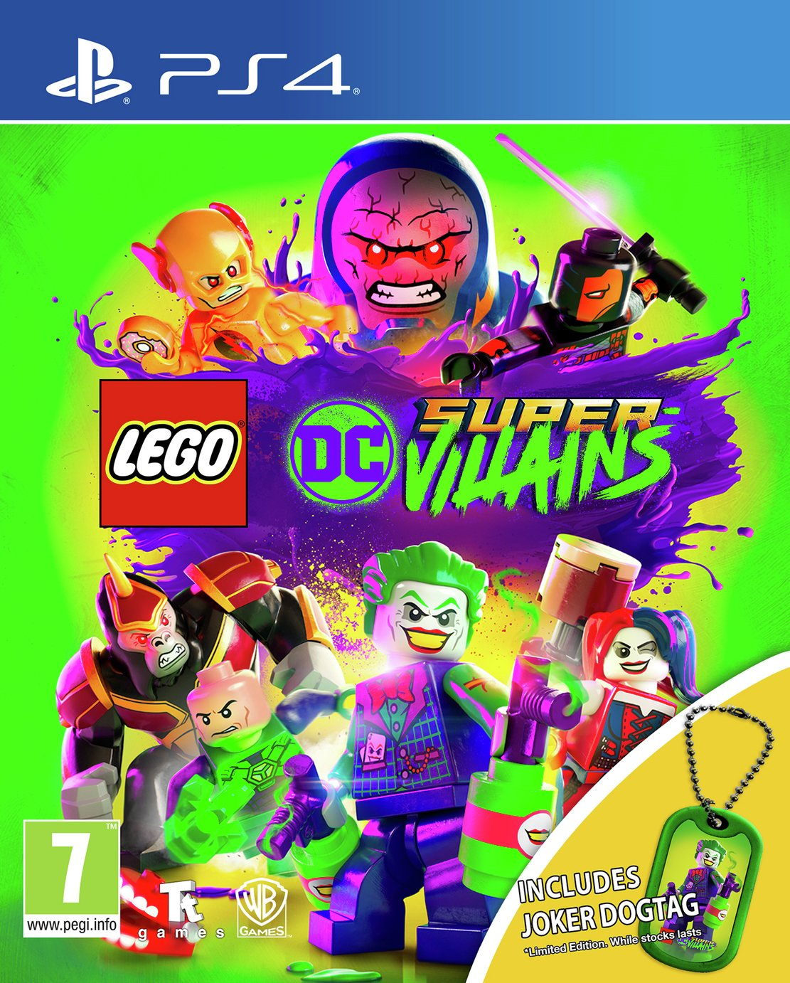 LEGO DC Supervillains PS4 Game with Dogtag