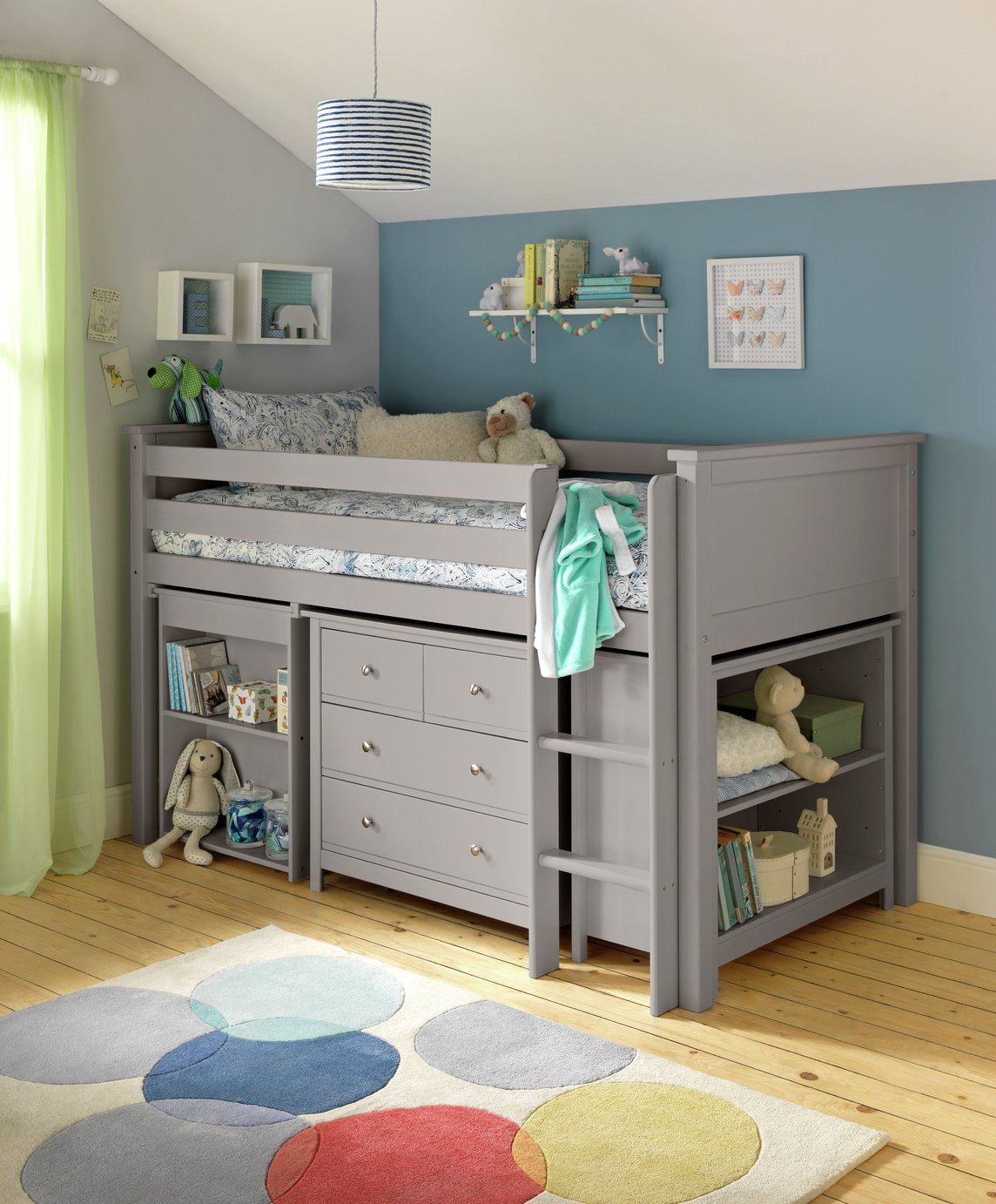Argos Home Brooklyn Grey Ultimate Mid Sleeper