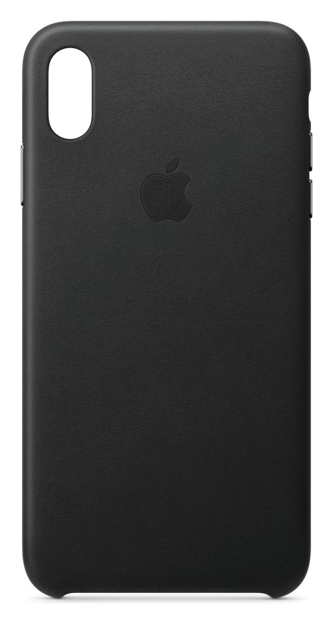 Apple iPhone Xs Max Leather Phone Case - Black