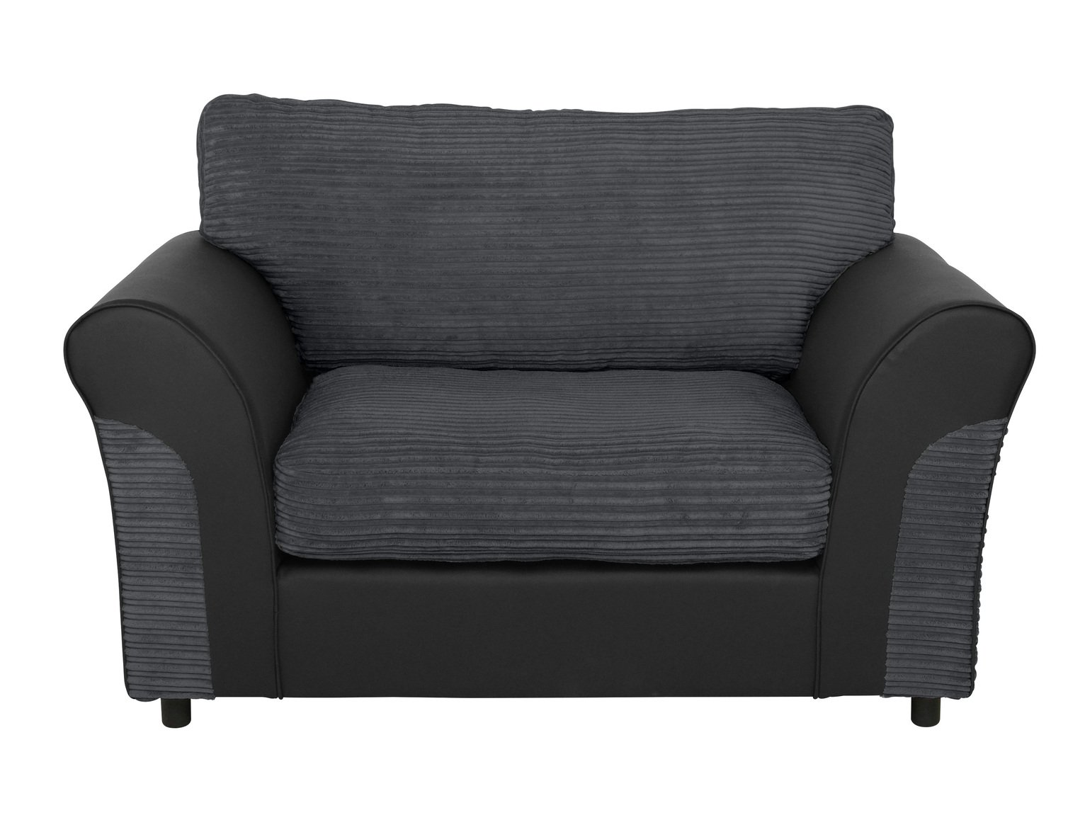 Argos Home Harry Fabric Cuddle Chair - Charcoal