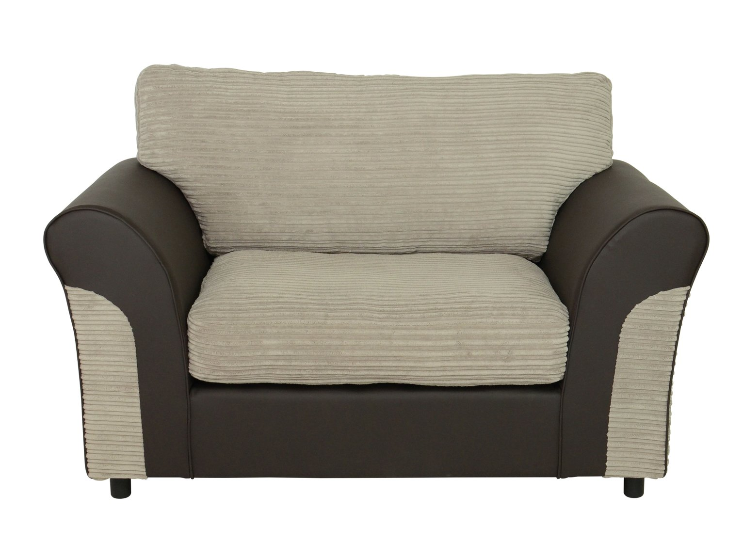 Argos Home Harry Fabric Cuddle Chair - Natural