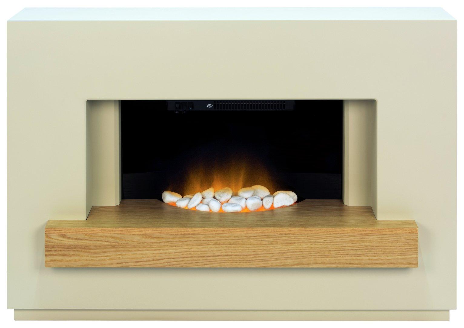 Adam Sambro 2kW Electric Fire Suite - Oak