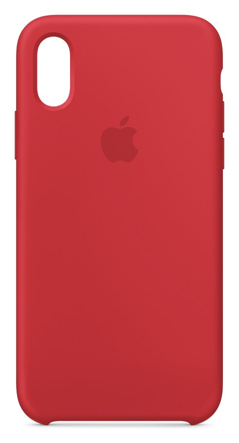 Apple iPhone Xs Silicone Phone Case - Red