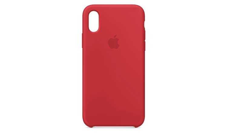 competitive price 3df34 6c717 Buy Apple iPhone Xs Silicone Phone Case - Red   Mobile phone cases   Argos