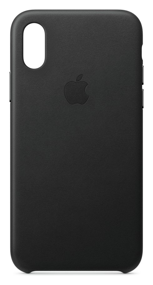 Apple iPhone Xs Leather Phone Case - Black