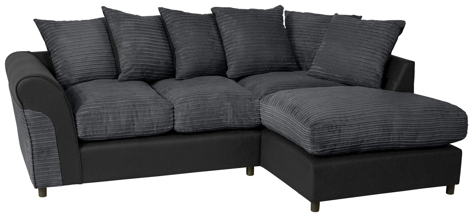 Argos Home Harry Right Corner Fabric Sofa - Charcoal