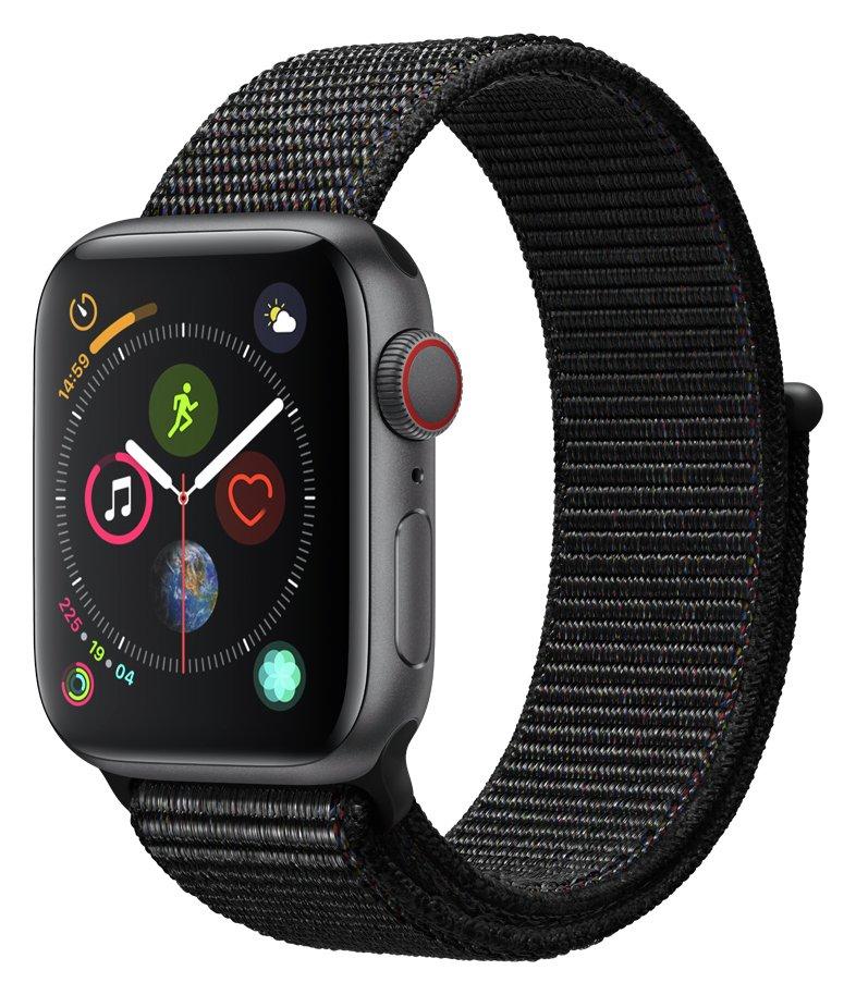 Apple Watch S4 Cell 40mm - Grey Alu / Black Sport Loop