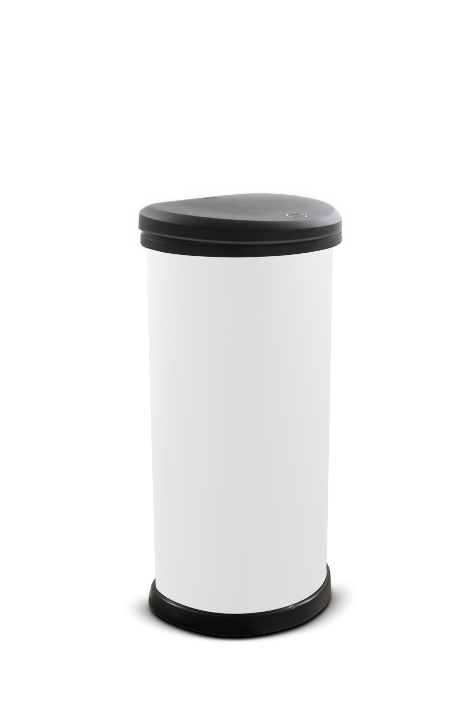 Curver 40L Deco Touch Top Bin - Ice White
