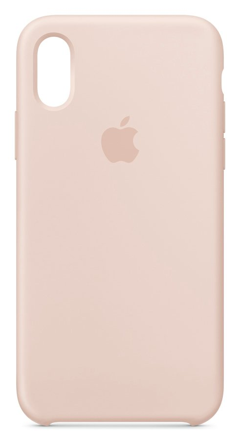Apple iPhone Xs Silicone Phone Case - Pink Sand