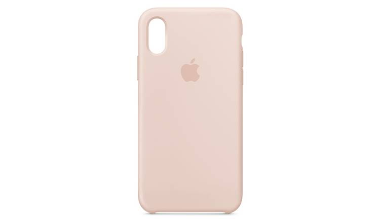 hot sale online ddf01 6209c Buy Apple iPhone Xs Silicone Phone Case - Pink Sand | Mobile phone cases |  Argos