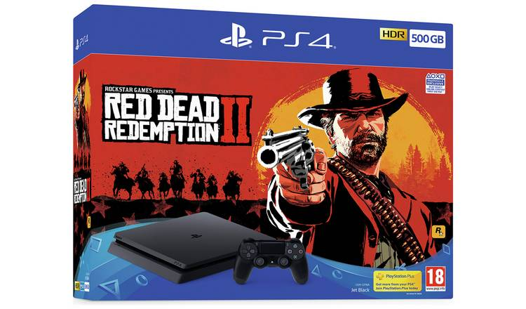 Buy Sony PS4 500GB Console and Red Dead Redemption 2 Bundle | PS4 consoles  | Argos