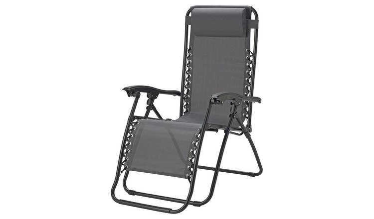 Buy Argos Home Metal Set Of 2 Sun Lounger Chairs Grey
