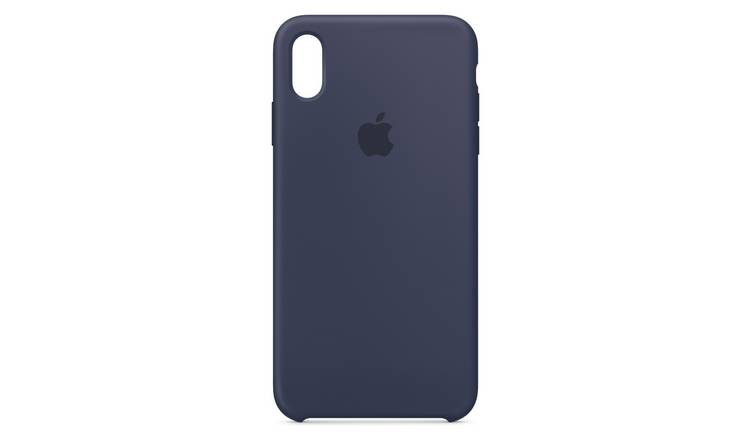premium selection a6614 09a78 Buy Apple iPhone Xs Max Silicone Phone Case - Midnight Blue | Mobile phone  cases | Argos