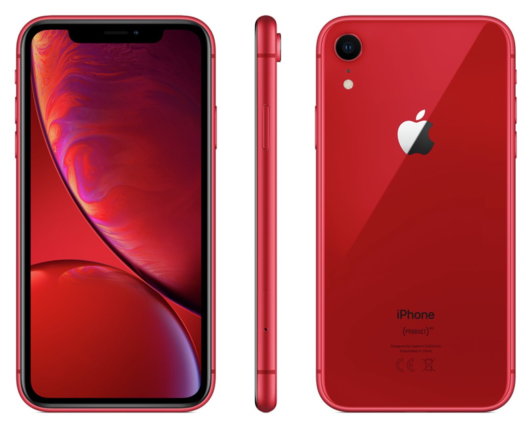 Sim Free iPhone XR 256GB Product Red Mobile Phone