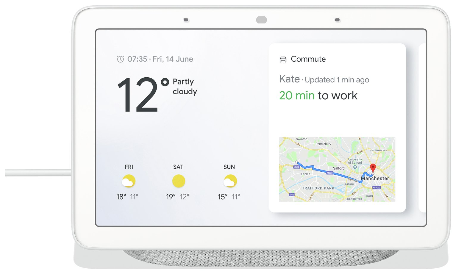 Google Nest Home Hub - Chalk