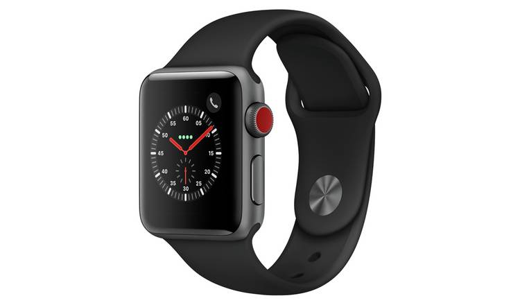 Apple Watch S3 2018 Cellular 38mm - S Grey/ Black Sport Band
