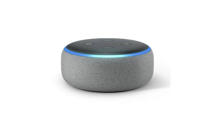Buy New Amazon Echo Dot - Heather Grey   Smart speakers   Argos